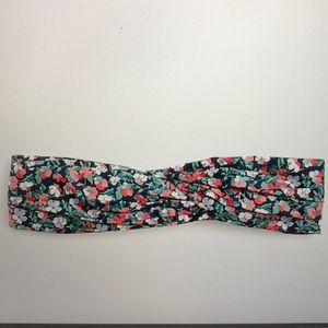 Soft twist headband in liberty Sarah print